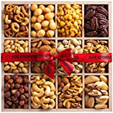 Gourmet Nuts Wooden Tray, Fresh Food Gift Basket For Him & Her, 12 Section Edible Arrangement, Healthy Snack Box - Birthday, Sympathy, Family Parties & Movie Night, Corporate Tray - Prime Delivery