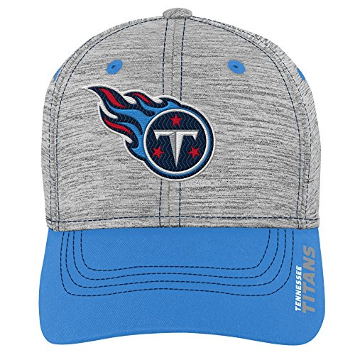 Outerstuff NFL NFL Tennessee Titans Youth Boys Velocity Structured Flex Hat Heather Grey, Youth One Size