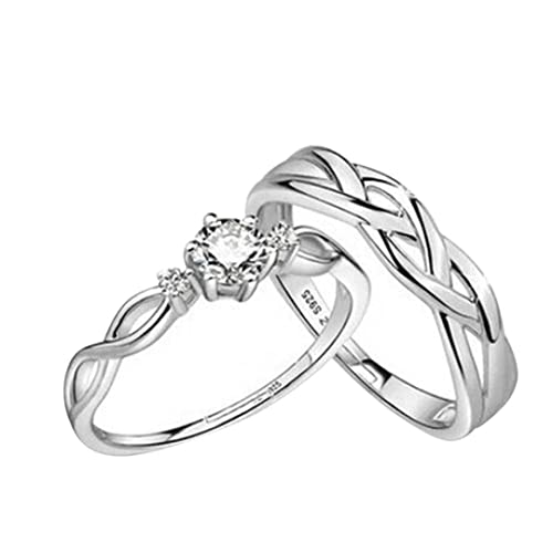 Anillos de boda conjuntos para las mujeres/juego de anillos de boda su y la