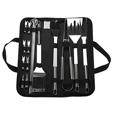 Amazon Com Tieesa Bbq Grill Tool Set Barbecue Stainless Steel
