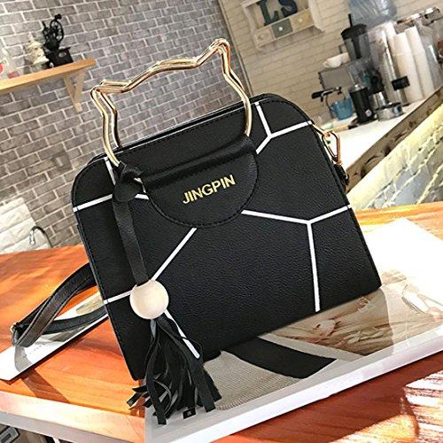 Morwind Cross Women Women Handbag Body Tote Purses for for Black Bag Women Cat Handbags Satchel Shoulder Girls wx7E0tqZq