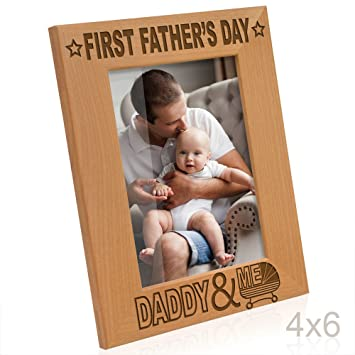 Amazoncom Kate Posh First Fathers Day With Daddy Me Picture