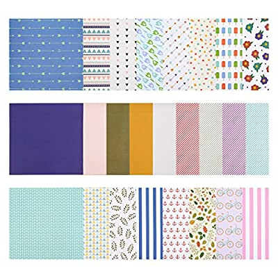 50-Sheet Scrapbook Paper Pad - Patterned Designer Paper - Ideal for Scrapbooking and Crafting, 25 Assorted Patterns, 12 x 12 Inches