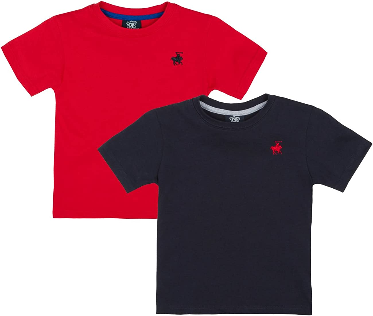 Cargo Bay Boys Short Sleeved Embroidered Plain T-Shirts