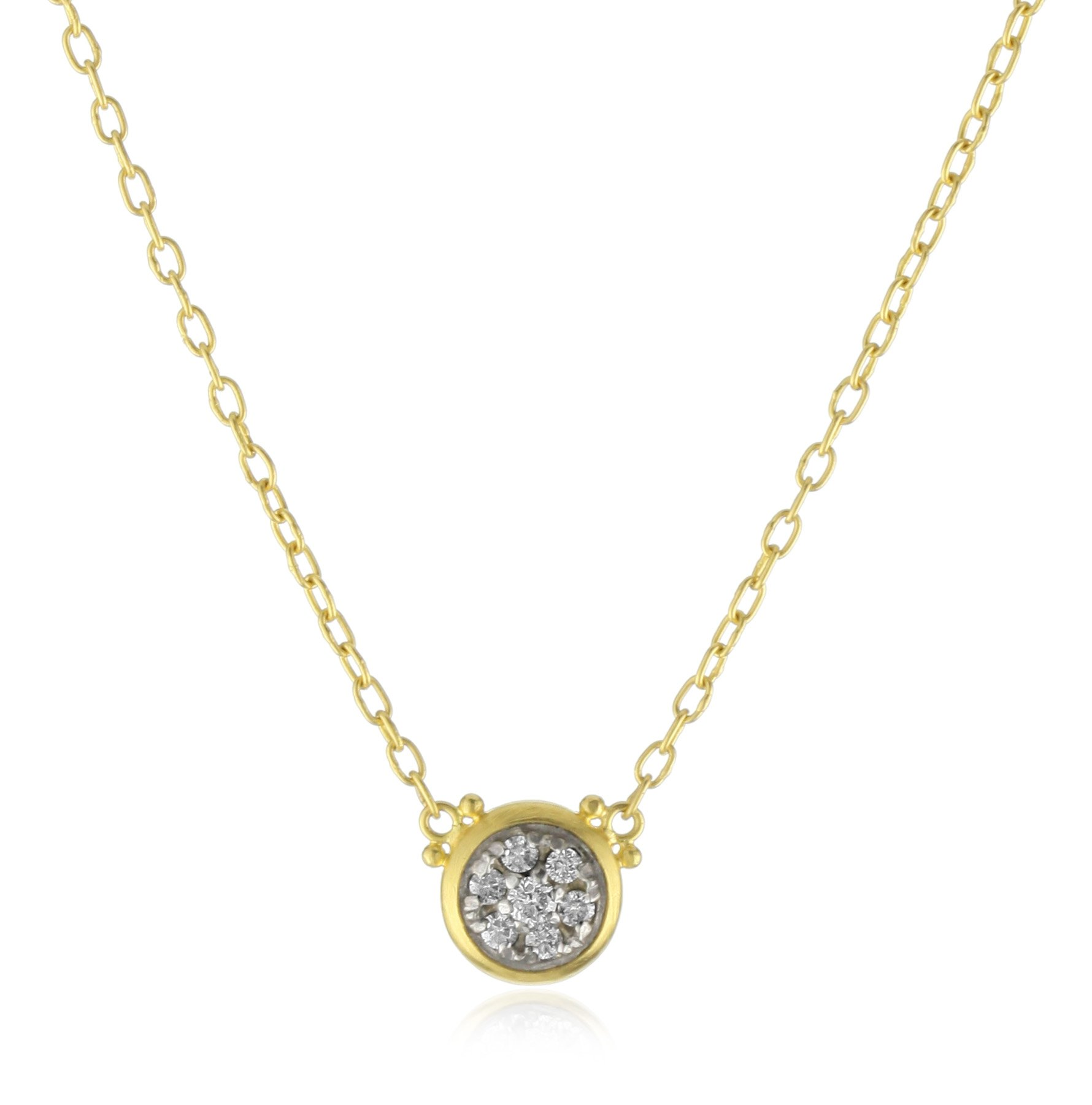 GURHAN ''Moonstruck'' White Diamond Two-Tone Pendant Necklace, 17''