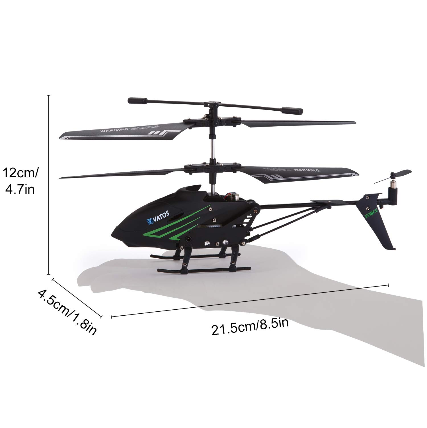 RC Helicopter, Remote Control Helicopter with Gyro and LED Light 3.5HZ Channel Alloy Mini Helicopter Remote Control for Kids & Adult Indoor Outdoor Micro RC Helicopter Best Helicopter Toy Gift by VATOS (Image #2)