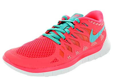 pretty nice 27182 21203 Nike Free 5.0 Mixte Adulte, Toile, Sneaker Low - Rose - Rose, Taille