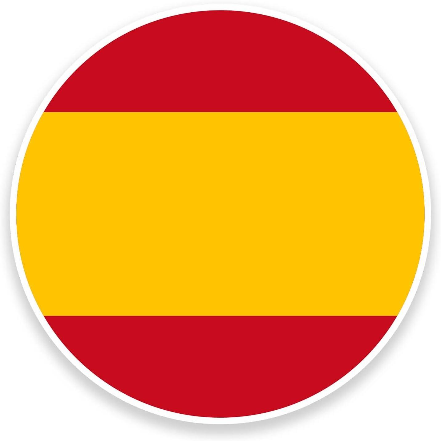 2 x 10 cm Bandera España Pegatina Vinilo para Portátil Coche Bicicleta de Viaje Etiqueta España #9101: Amazon.es: Coche y moto