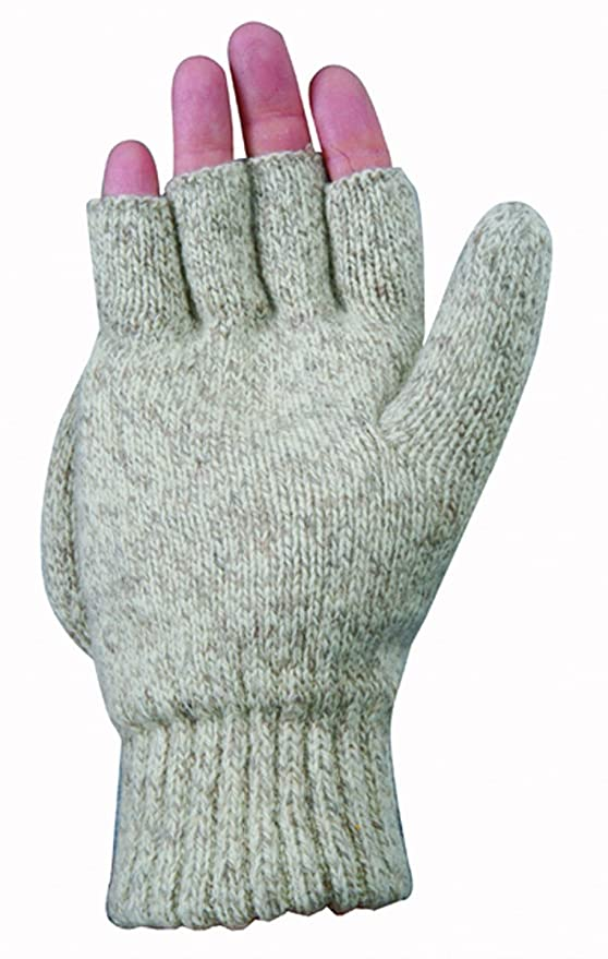 Wells Lamont 577M Fingerless Ragg Wool Gloves, Medium - Work Gloves - Amazon.com