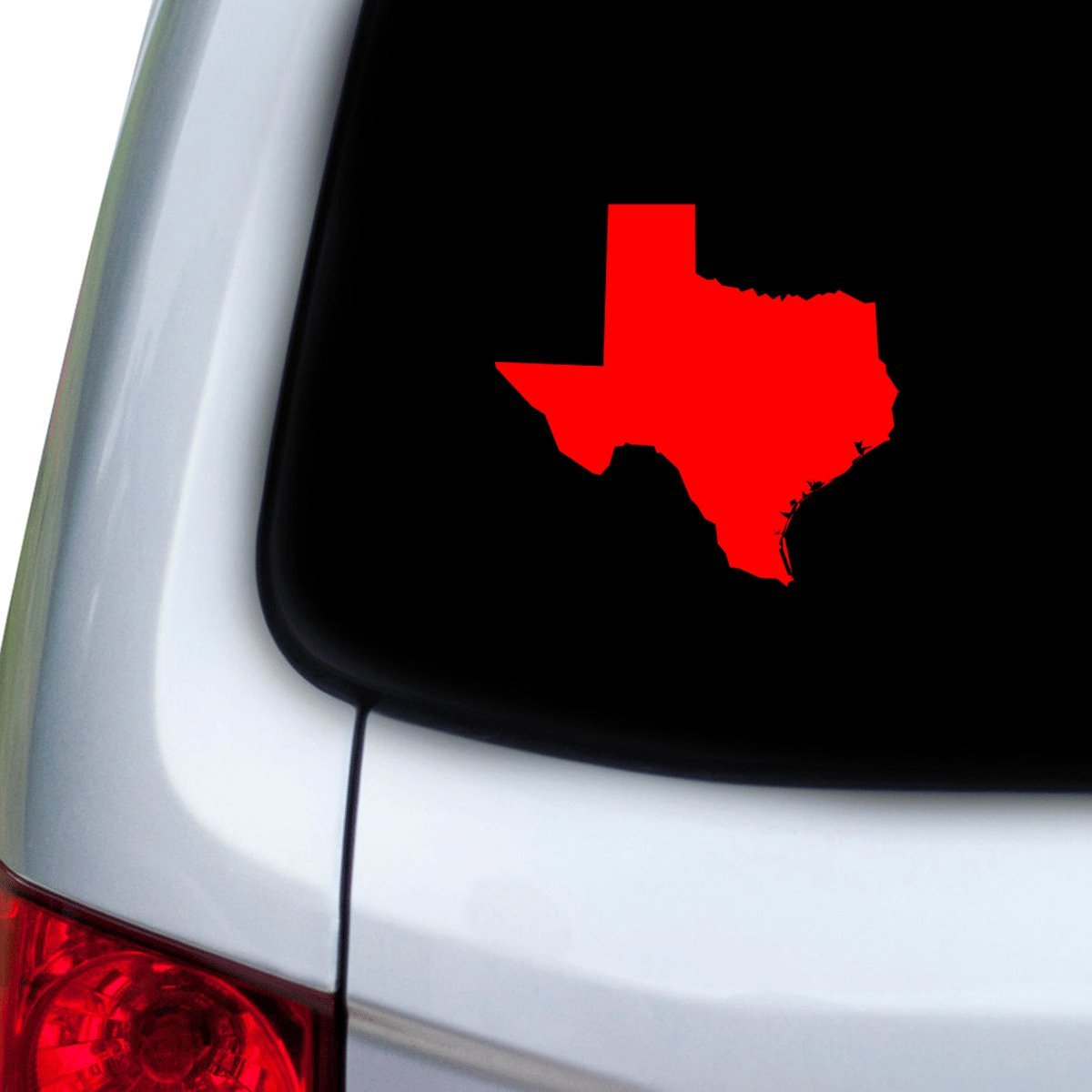 Hoods Red StickAny Car and Auto Decal Series Texas TX Sticker for Windows Doors