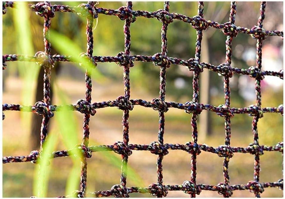階段を上るネット子供の保護のための落下防止セーフティネット貨物ロープはしごメッシュ屋外の遊び場バルコニーキッズ安全な手すりブロッキングネット (Color : 18MM-30CM, Size : 1*6m(3.3*20ft))