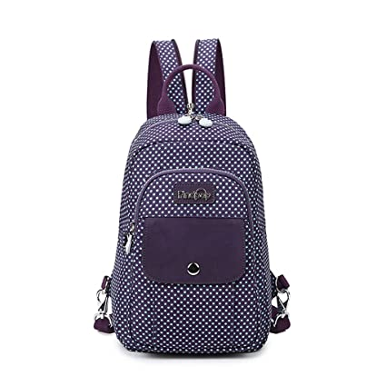 bcb85724becc Image Unavailable. Image not available for. Color  CJH Mini Shoulder Bag  Female Waterproof Travel Canvas Small Backpack Casual Large Capacity Chest  ...