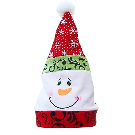 MagiDeal Cappello Natale con Delicato Blu E Bianco Porcellana Piatto Ricamo 1e8669921c77