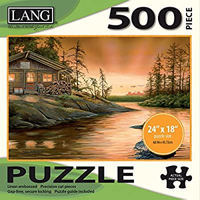 Jigsaw Puzzle 500 Pieces 24x18 Cabin On The Narrows