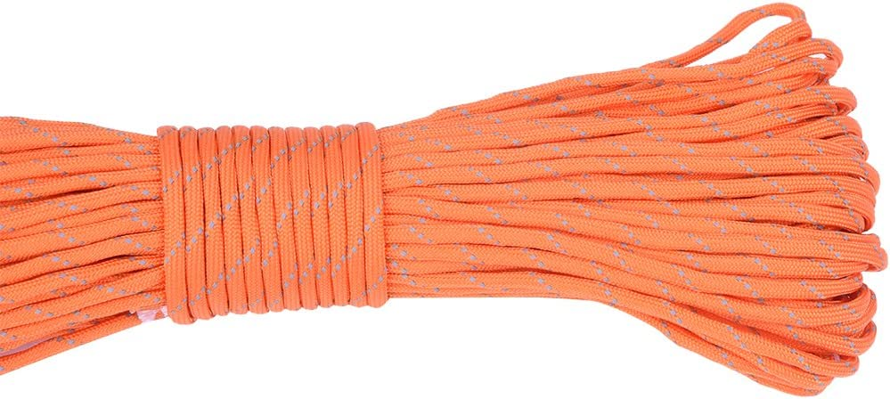 Standard, R/éfl/échissante Brotree Paracorde 550 Corde de Parachute 9 Brins en Nylon Corde de Survie