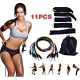 Multi-Functional Resistance Band HIIT Workout Set - Push/Pull Home Body Muscle Cross Training Kit for Legs Core Hips…
