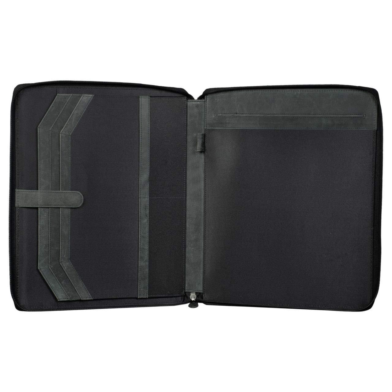 Color:Antracita STILORD Dexter Portadocumentos Cuero Bolsa Port/átil 13,3 para MacBook Portafolios o Malet/ín Carpeta Conferencia Trabajo o Negocios Piel Aut/éntico