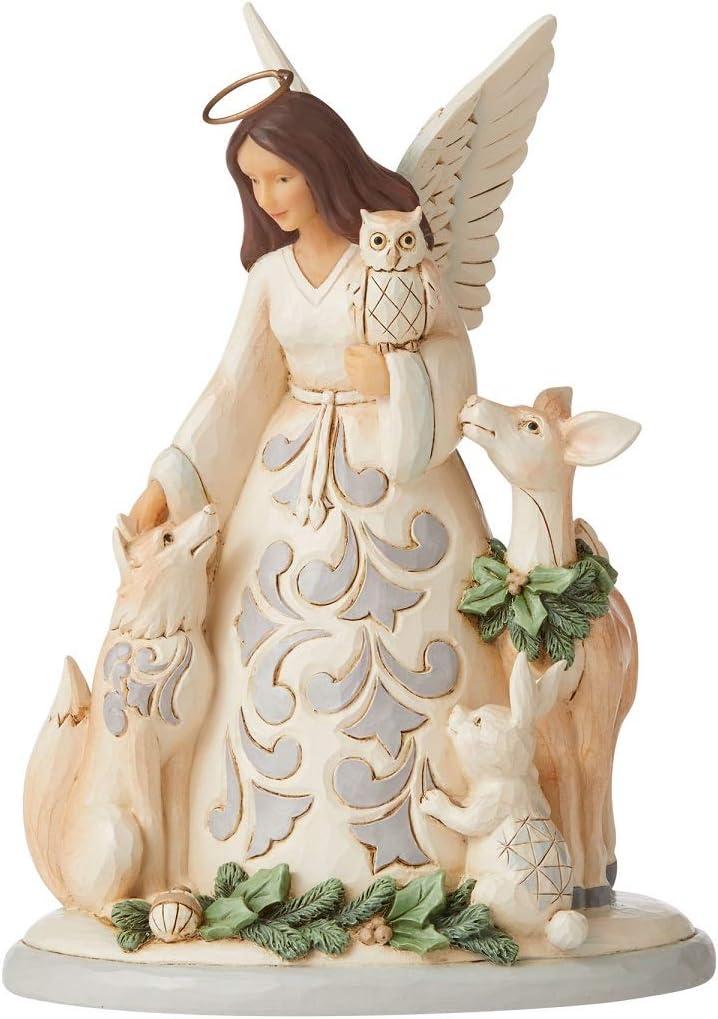 Enesco Jim Shore Heartwood Creek White Woodland Angel/Friends Figurine