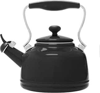 Chantal Enamel on Steel Vintage Teakettle (Matte Black)