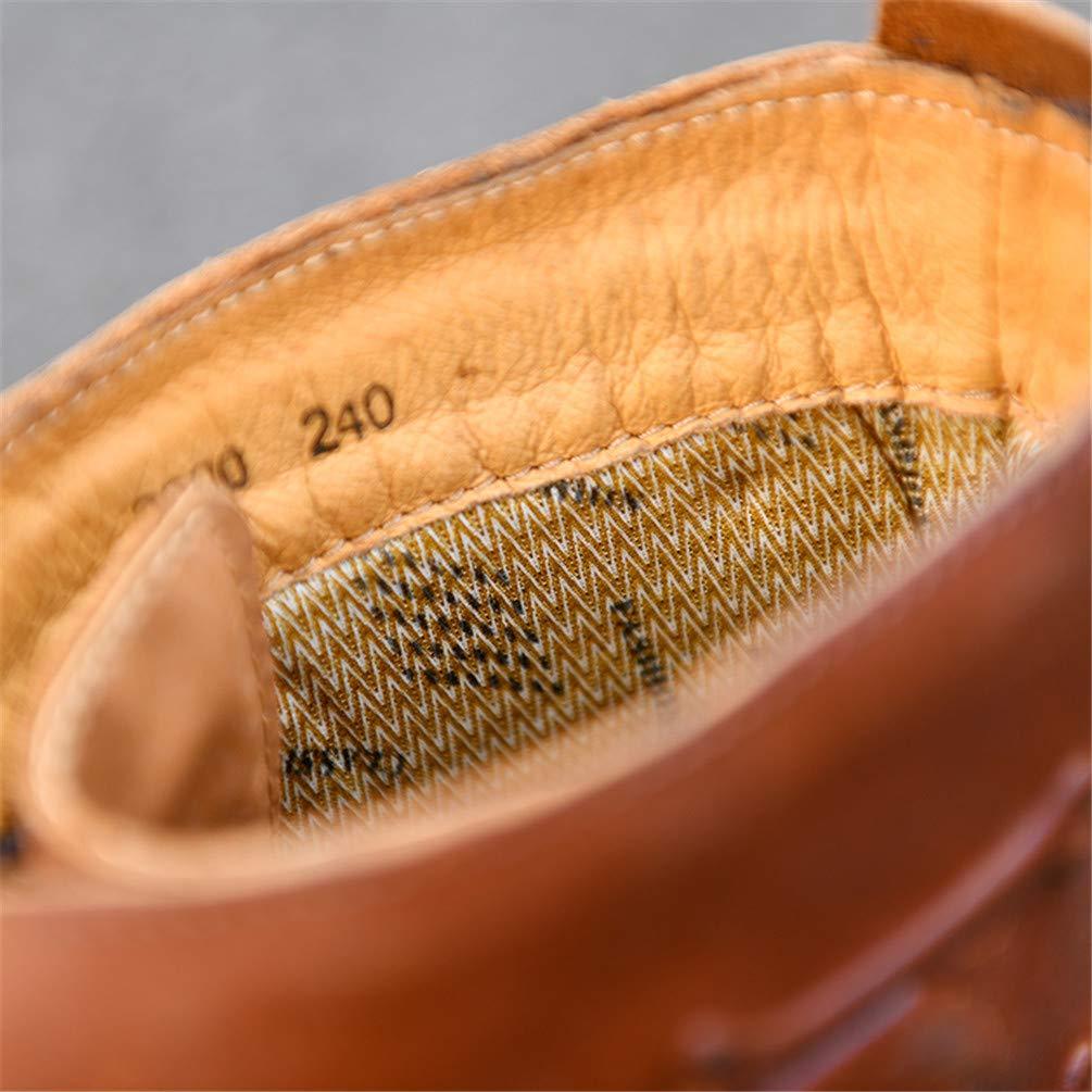 Herren Martin Stiefel Lokomotive Stiefel aus aus aus echtem Leder Wasserdichte Stiefel Military Steampunk Stiefel Desert Stiefel Motorrad Reitschuhe,braun,46 cbcf53