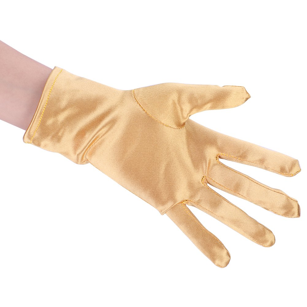 Short Stretch Satin Gloves Women Girls Wrist Length Gloves Special Occasion Gloves Wedding Party Gloves Costume Accessory