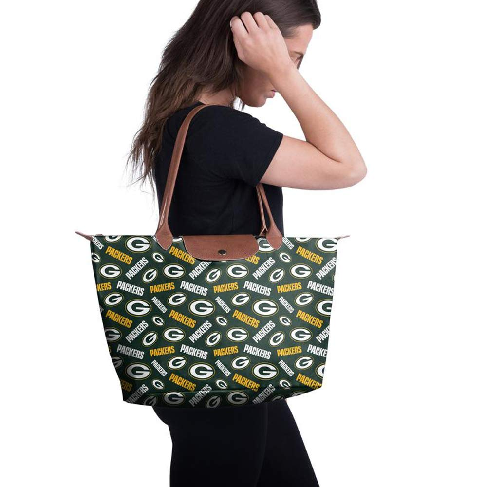 NFL Green Bay Packers Logo Printed Collection High End Women's Tote Bag Green