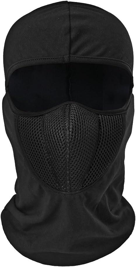 la Moto la Course Masque 3D Anti-poussi/ère la p/êche la Chasse Anti-UV TEFITI Cagoule Multifonction pour Homme Anti-Vent pour Le Camping