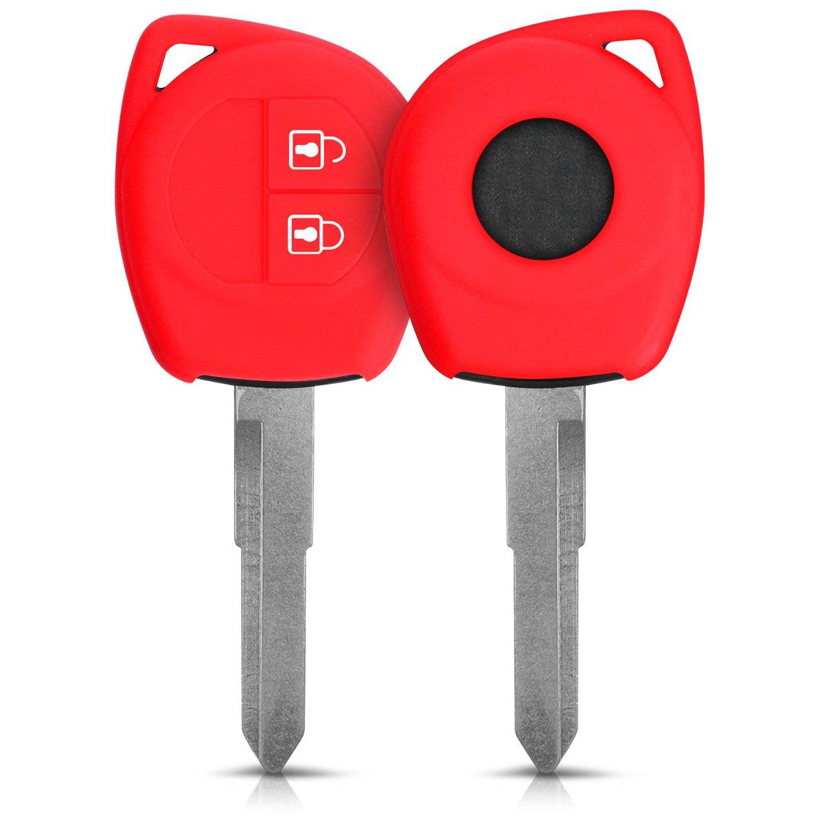 kwmobile Accessoire clé de Voiture Suzuki Opel - Coque pour Clef de Voiture Suzuki 2-Bouton en Silicone Noir - Étui de Protection Souple KW-Commerce 42540.01_m000691