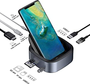 Samsung Dex Station, Baseus Samsung Docking Station, USB C to 4K HDMI Adapter DeX Station, Desktop Experience for Samsung Galaxy S10/S9/S8/S10 /S9 /S8 Note 9/8, Huawei Mate 10/10 Pro/20 Pro, P20/Pro