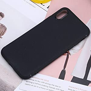 PE Apple iPhone 6s Case, iPhone 6 Cover New Luxury Slim TPU Leather Pattern Soft Phone Case Cover for iPhone 6s iPhone 6 (Black, iPhone 6s/6 4.7