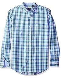 IZOD Men's Long Sleeve Medium Plaid Shirt