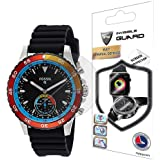 For Fossil Q Crewmaster Blue & Black Silicon Stainless Steel Smartwatch Screen Protector (2 Units) Invisible Ultra HD Clear Film Anti Scratch Skin Guard - Smooth / Self-Healing / Bubble -Free By IPG