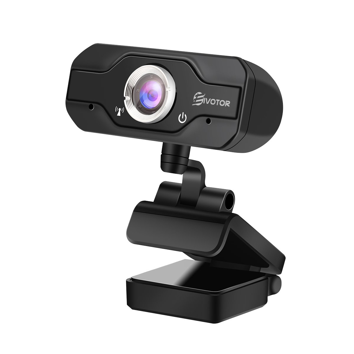 HD Webcam, EIVOTOR PC Webcam 720P USB Mini Computer Camera Built-in Mic, Flexible Rotatable Clip, for Laptops and Desktop, Black by EIVOTOR