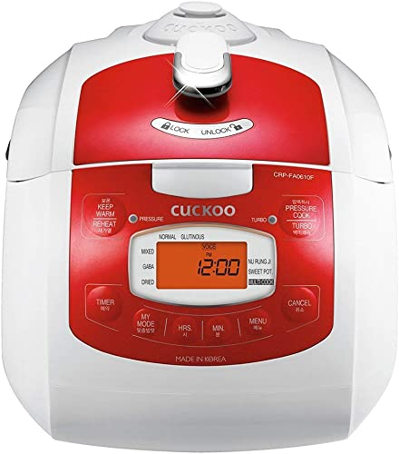 Cuckoo CRP-FA0610FR 6 cup Multifunctional Electric Pressure Rice Cooker Programmable Thermal Coffeemaker