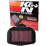 K&N Filtro de ar do motor: alto desempenho, Premium, filtro de ar PowerSport: 2010-2018 YAMAHA (XTZ1200 Super Tenere, XTZ1200