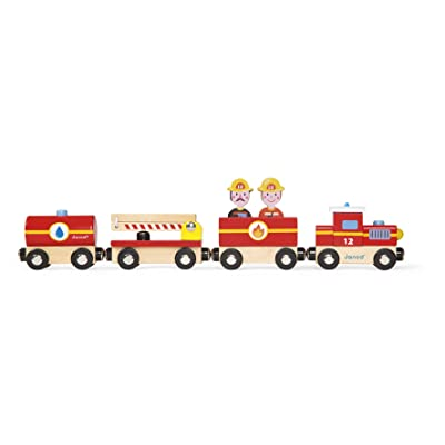 Janod - J08540 - Story - Train Pompiers Bois