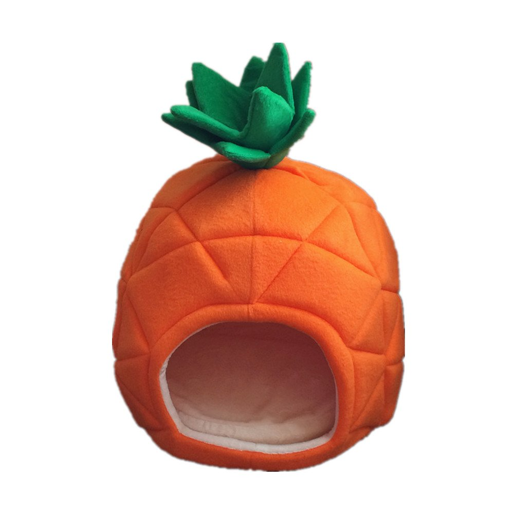 JYSPORT mascota nido Lovely piña suave cachemir cálido perro gato casa plegable cama, red wine, small: Amazon.es: Deportes y aire libre