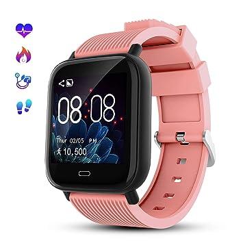 Smartwatch Deporte para Hombre Mujer Impermeable Reloj Inteligente con Monitore de Actividad Monitor de Frecuencia Cardiaca Podómetro Monitor de Sueño ...