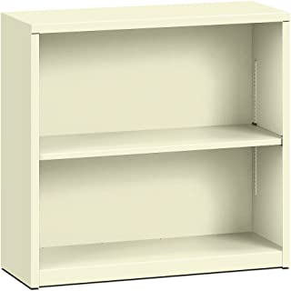 product image for HON Brigade Metal Bookcase - Bookcase with Two Shelves, 34-1/2w x 12-5/8d x 29h, Putty (HS30ABC)