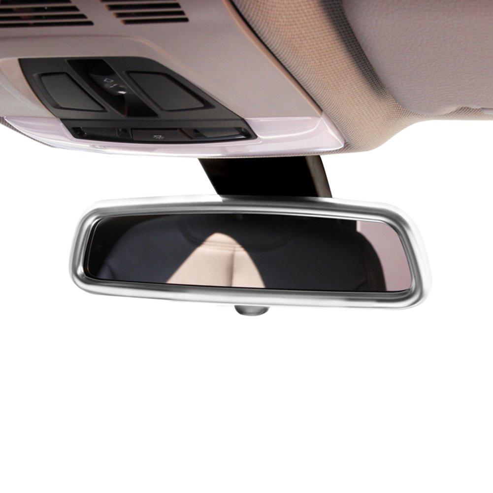 car-styling ABS Chrom Innen R/ückspiegel Verkleidung Zubeh/ör Teile
