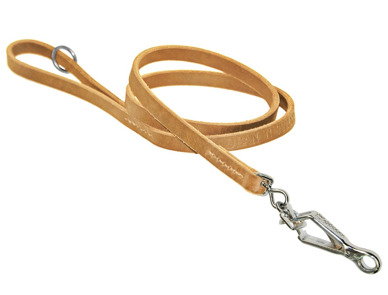 Dean & Tyler Tan No Nonsense Sprenger Snap Leash with Ring on Handle, 3-Feet by 1 2-Inch