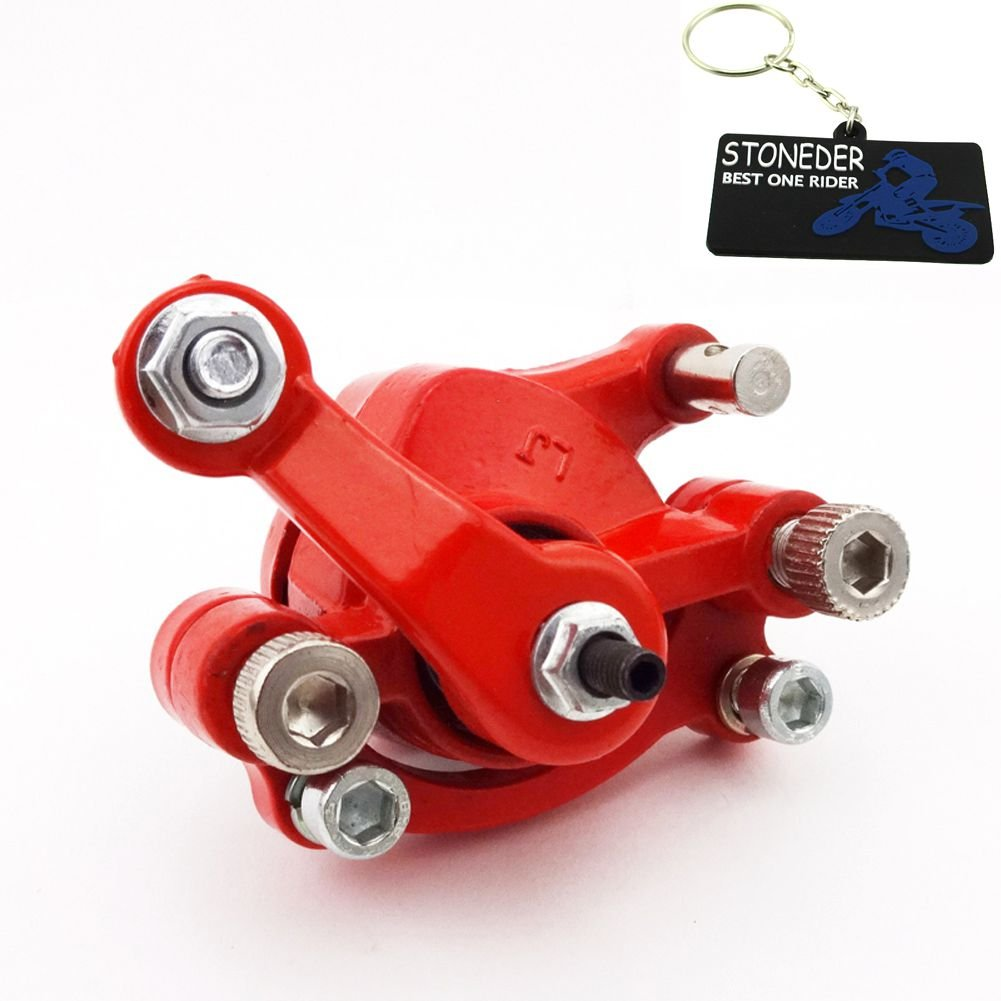 STONEDER Red Rear Right Side Disc Brake Caliper For 2 Stroke 43cc 47cc 49cc Engine Mini Moto Pocket Dirt Bike Gas Scooter