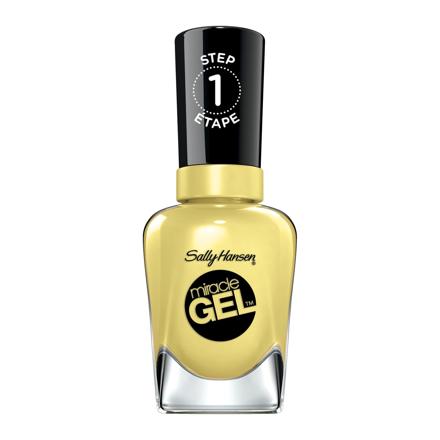 Sally Hansen Miracle Gel Nail Color, Lemon Heaven, 0.5 Ounce
