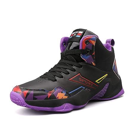 YSZDM Zapatos de Baloncesto de los Hombres, Botas de Atletismo ...