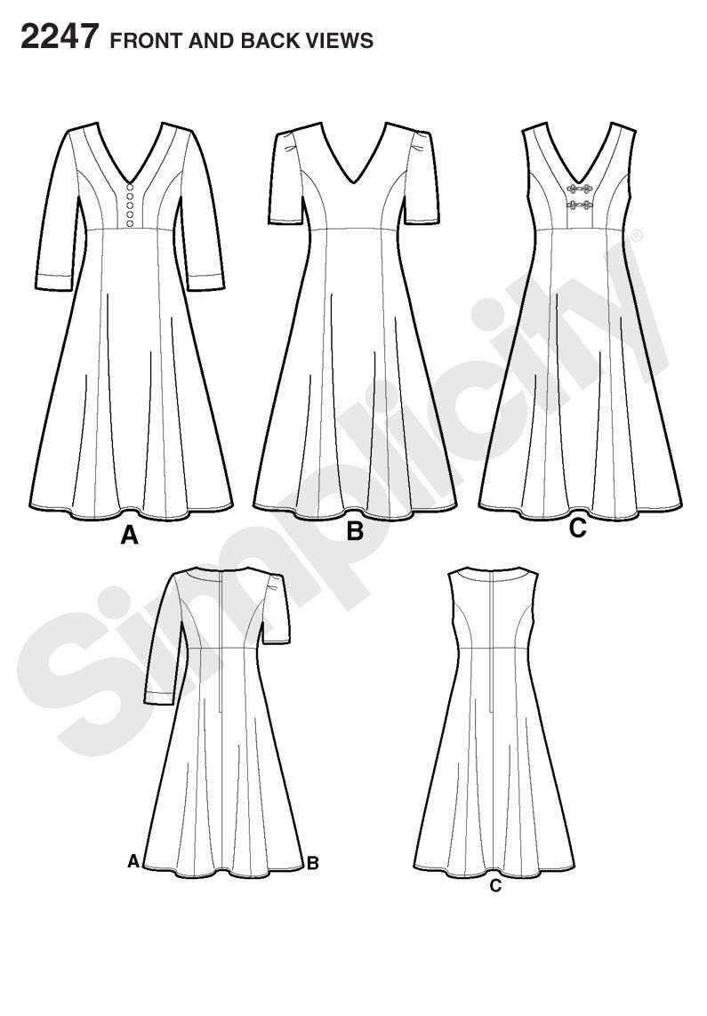 Sizes 10-18 Simplicity Amazing Fit Collection Womens Summer Dress Sewing Pattern