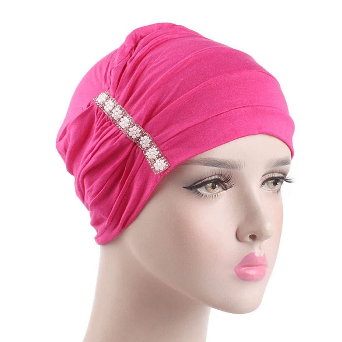 Amazon.com  Sunny Love 2018 Women Elastic Hijab Cancer Hat Chemo Turban  Wrap Cap Hair Loss Head Scarf Fitted Hat (Wine)  Sports   Outdoors 52b0edde3538