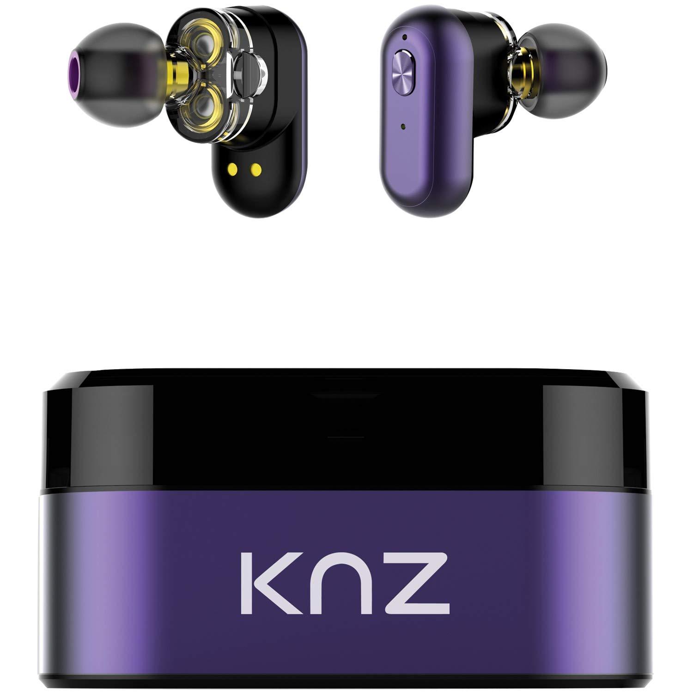 KNZ Technology KNZSNDFLXUVL Soundflux デュアルドライバー トゥルーリーワイヤレスインイヤーステレオヘッドホン (バイオレット) B07JND7P9H