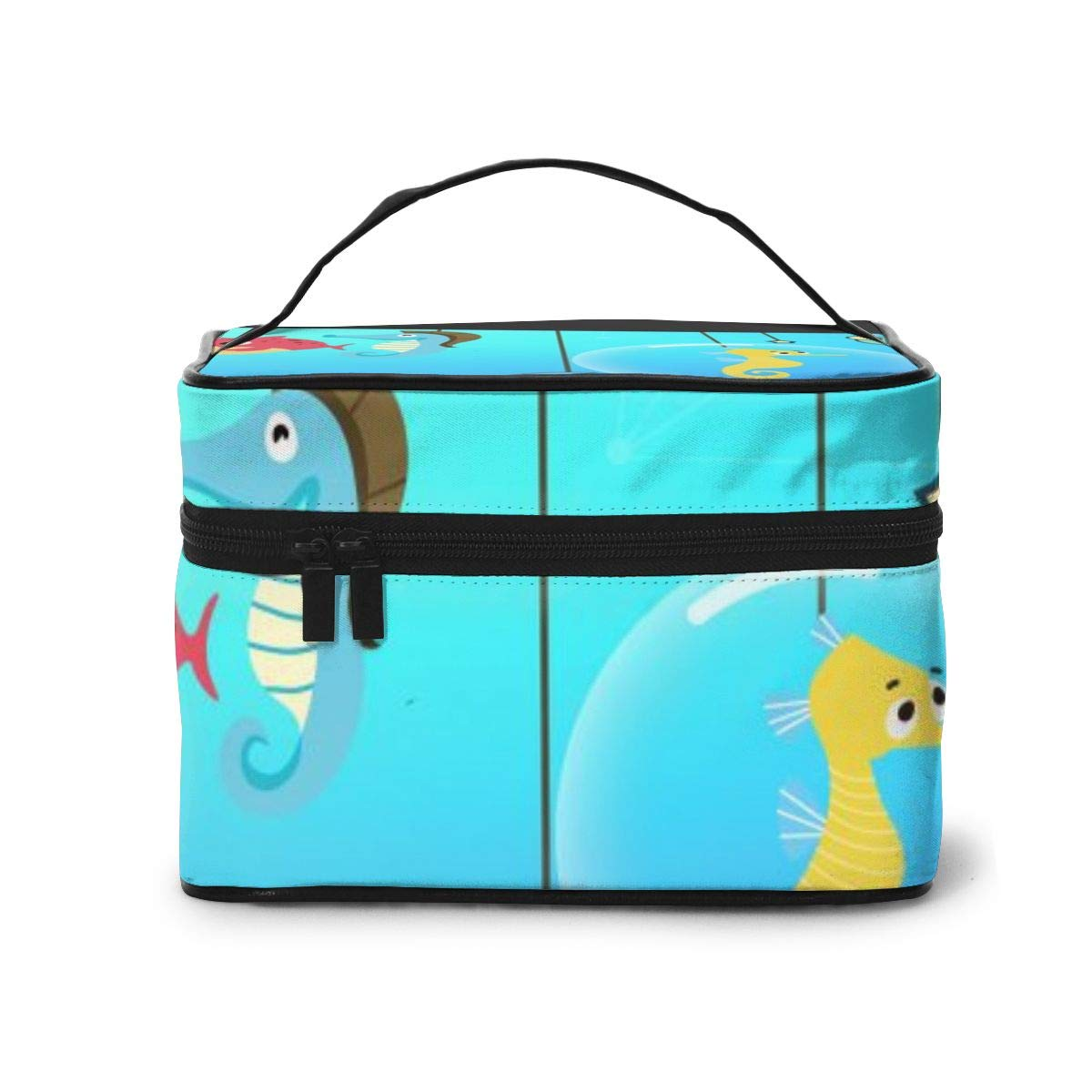 Cartoon Sea Creature Polygon Travel Cosmetic Bag Wash Pouch Storage Box Toiletry Bag For Women Girls