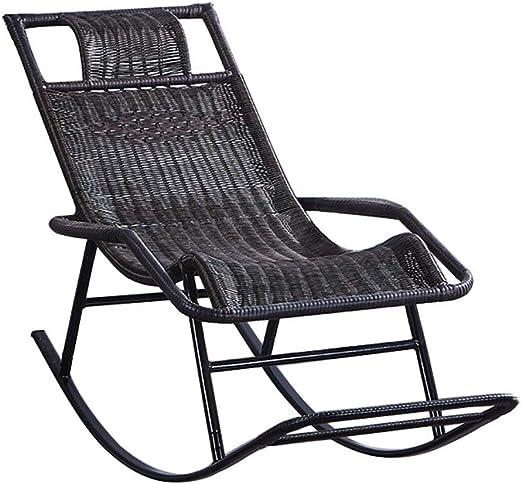 Tumbonas Silla Mecedora de ratán, sillón Sun Lounge for jardín Patio, terraza de césped, Silla de