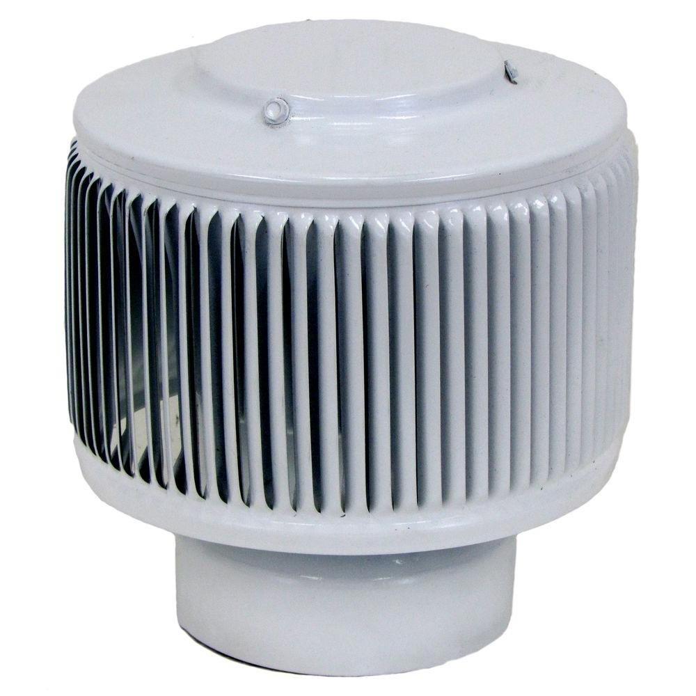 Aura PVC Pipe Cap 4 Inch Diameter (WHITE)